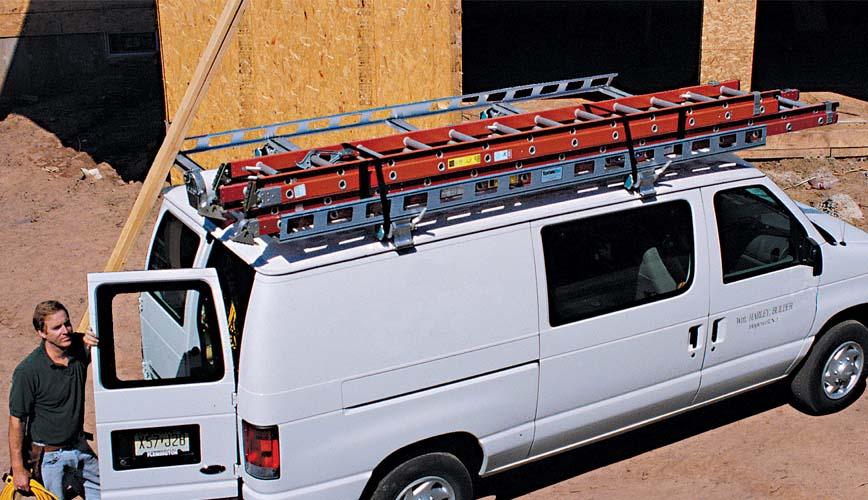 Van Ladder Racks Contractor Rig System One Aluminum